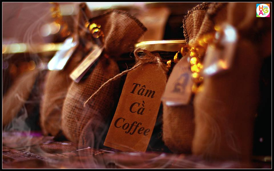 tâm cà túi thơm cà phê