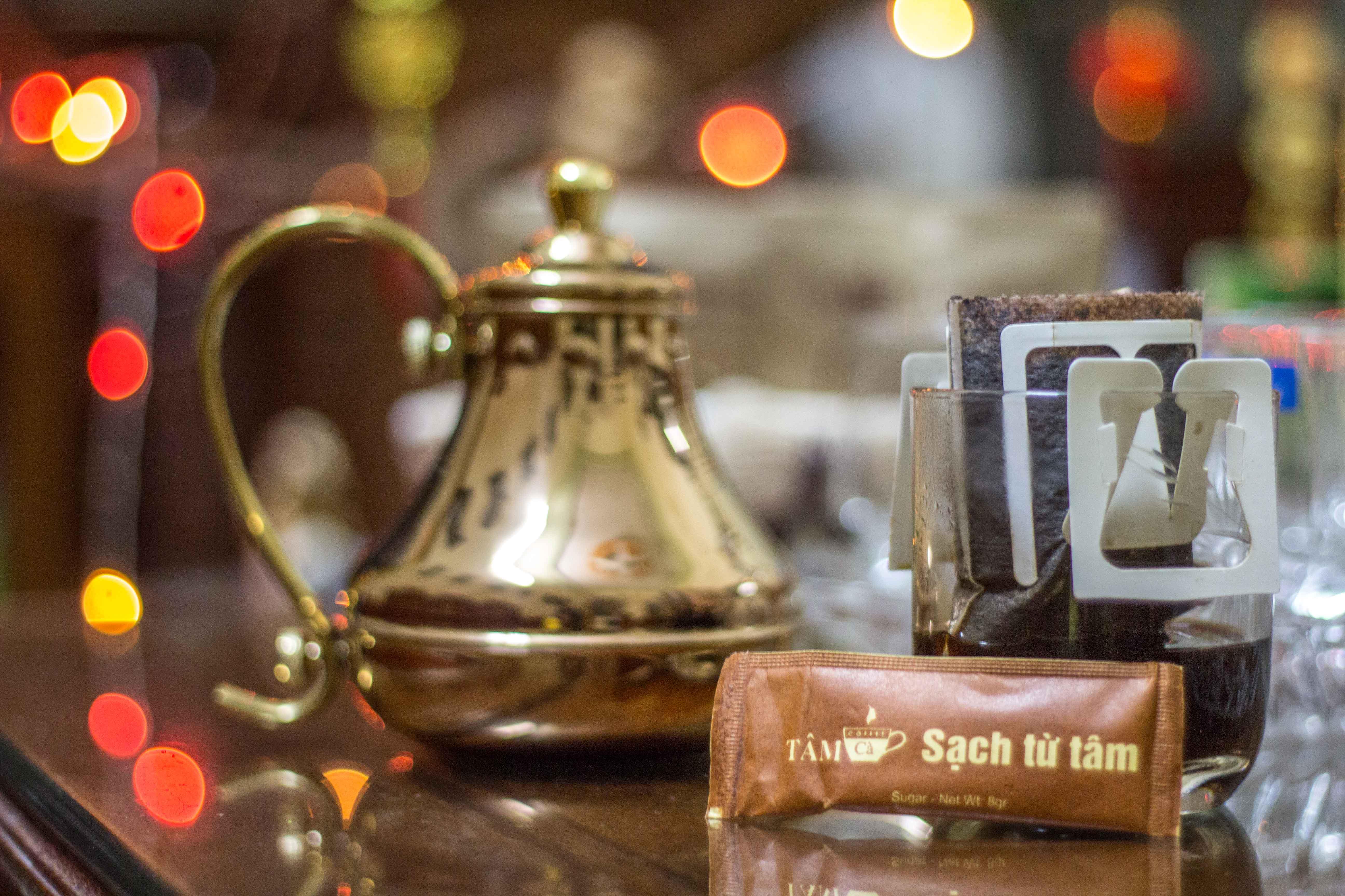 Cafe phin giay Tet