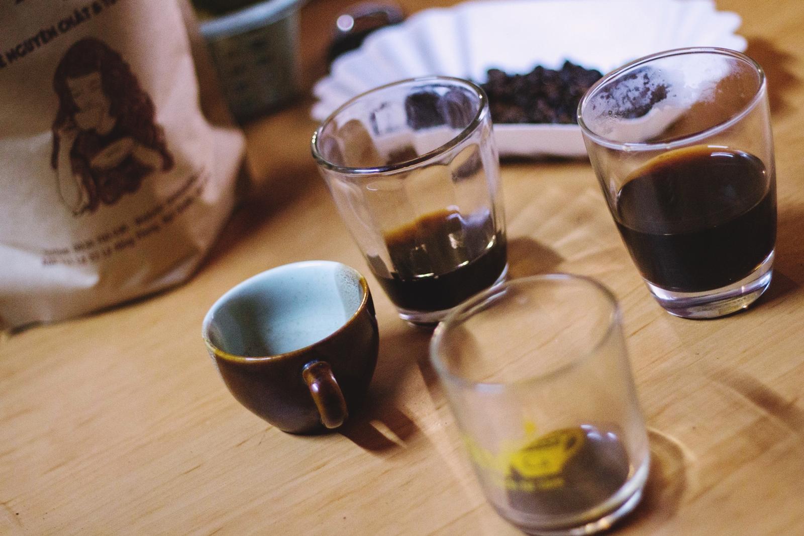Chúng tôi đã cùng nhau thử nhiều loại cà phê
